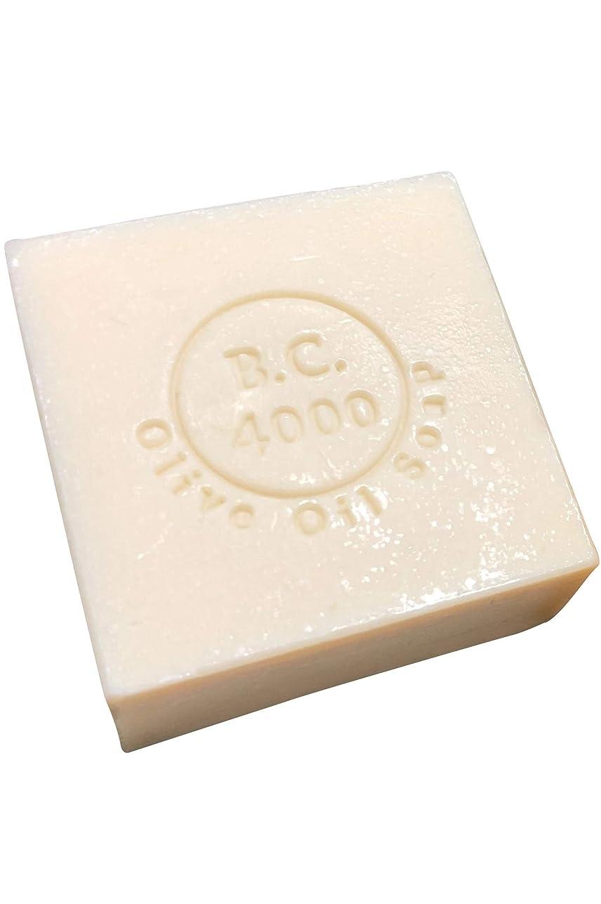 インテリアぐったりマーチャンダイザー100% バージンオリーブオイル石鹸 B.C.4000 オーガニック せっけん 100g 1個