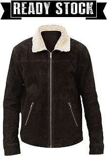 The Walking Dead Rick Grimes Season 5 Suede Brown Fur Collar Leather Jacket