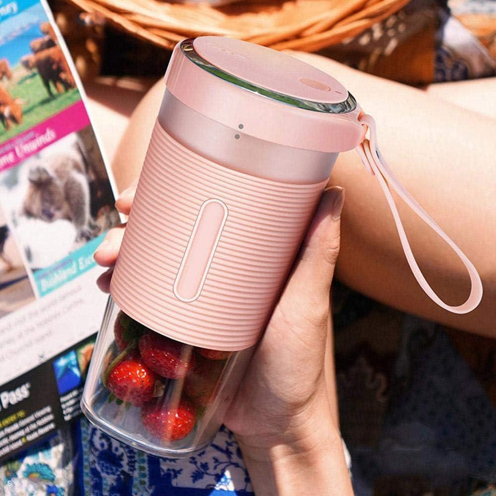 Cocina USB Juicer-Portable Mini Juicer Hogar Taza de jugo de fruta Taza Exprimidora eléctrica Carga USB(rosado) Rosado