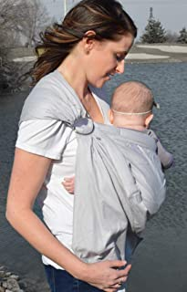 Lite-on-Shoulder Baby Sling Carrier, Open Tail,Ergonomic, 100% Cotton, Adjustable