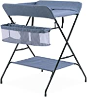 HSRG Baby Changing Table, Multi-function Folding Diaper Station changing clothes changing diapers Nursery Organizer for Infant,Blue