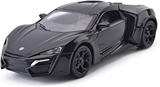 MyLifeUNIT 1:32 Scale Lykan Hypersport Black Die-cast Car Model Collection Light &Sound
