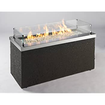 Outdoor Great Room Key Largo Fire Pit with Stainless Steel Top and Grey Base Multibox Kit