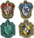 Harry Potter House of Gryffindor, Ravenclaw, Hufflepuff, Slytherin House Hogwarts, parche de escudo de 10 x 8 cm, a todo color, juego de parches termoadhesivos para abrigo, chaqueta, gorra
