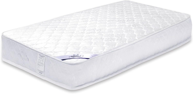 Furinno Nightland Luxurious Pocket Coil Mattress, Twin 10 , White