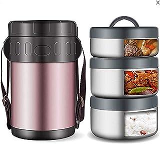 WMWJDQ Lunch Box INOX,Boîtes Porte Alimentaires Isotherme,Isolant Contenant Inoxydable,Récipient Thermique pour Aliment,Re...