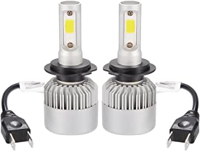 16000LM Max 200W(2 Bulbs) CREE LED Car Headlight H7 Halogen Lamp Bulb Built-in Cooling Fan 6500K White