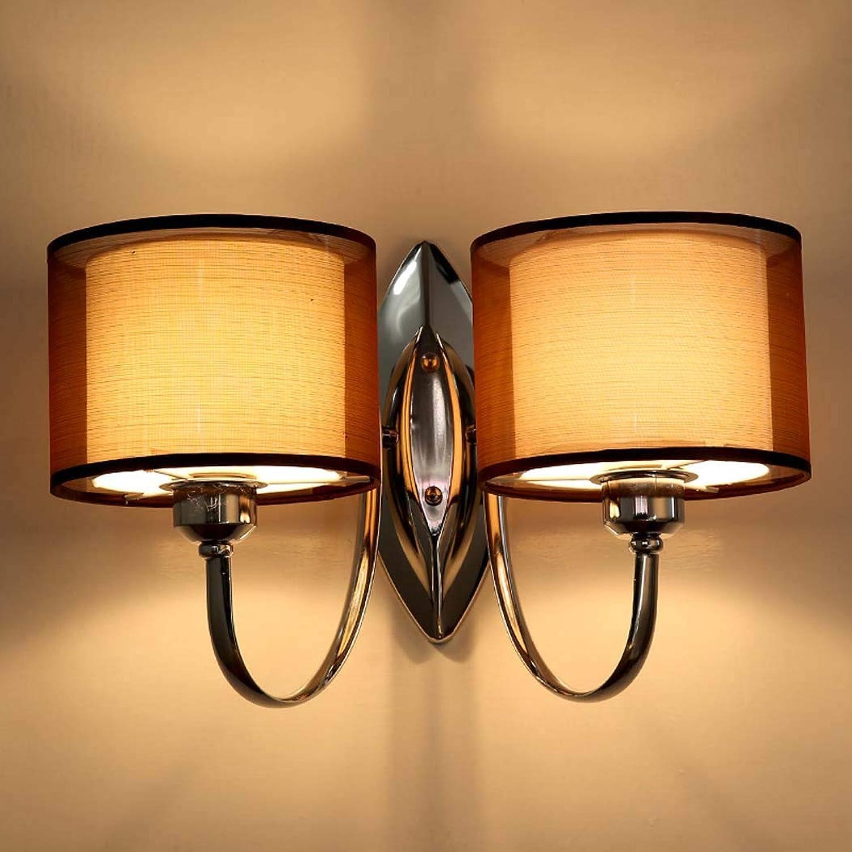 DSHBB Retro Romantische Moderne Einfachheit Tuch Wandleuchte, Nachttischlampe Wandleuchte Loft Stil Einzelwand Für Haus, Bar, Restaurants, Café, Club Dekoration (Farbe   2 Heads)