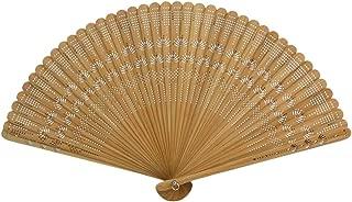 Healifty Bambus Handfächer Vintage Fan Holz Hand Fan Hochzeit Bridal Party gefallen braun
