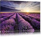 Traumhafte Lavendel Provence Format: 100x70 auf Leinwand, XXL riesige Bilder fertig gerahmt mit Keilrahmen, Kunstdruck auf Wandbild mit Rahmen, günstiger als Gemälde oder Ölbild, kein Poster oder Plakat