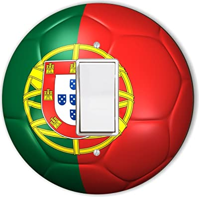 Rikki Knight Rnd Lsprock 65 Portugal Team World Cup Flag Soccer Ball Football Round Single Rocker Light Switch Plate Amazon Com