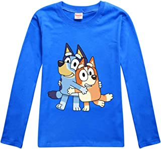 Dgfstm Bluey Boy Girl Cartoon Long Sleeve Top Unisex Kids Sweatshirt Children Pants Trousers