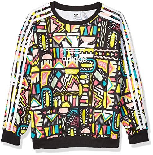 adidas Originals Kids' Big Juniors Crewneck Sweatshirt, Multi/White, Medium
