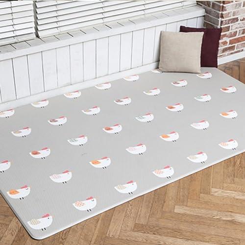 LIUZEIMIN Pvcbaby kriechen Matte,Doppelseitige Umweltschutz Folding Crawlen Weißh Spielen matten-A 170  135  1.2cm