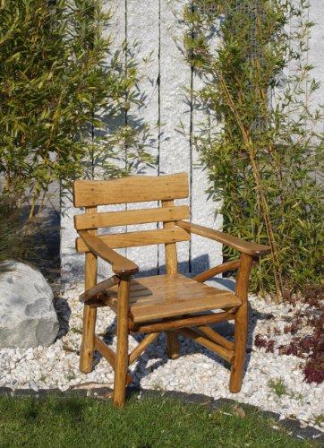 Pfeiffer, Knüppelholz – Gartengarnitur MOSEL 4-teilig, Eiche Buche Bild 2*