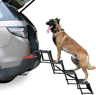 ペットステップ 折りたたみ 滑り止め 高さ調節可能 ペットスロープ 階段 台車への乗降 犬用 踏み 適用 車/ソファ/ベッド/玄関/ドライブ/庭に に,耐荷重性 60kg