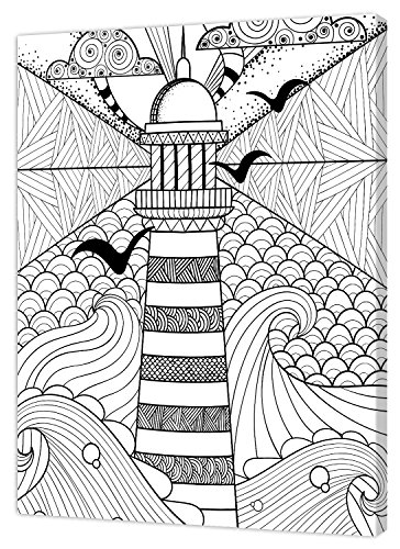 Pintcolor 7811.0 châssis avec Toile imprimée à colorier, Bois de Sapin, Blanc/Noir, 40 x 50 x 3,5 cm