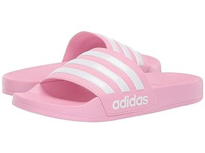 adidas Kids Adilette Shower Slide (Toddler/Little Kid/Big Kid) (True Pink/Footwear White/True Pink) Girls Shoes
