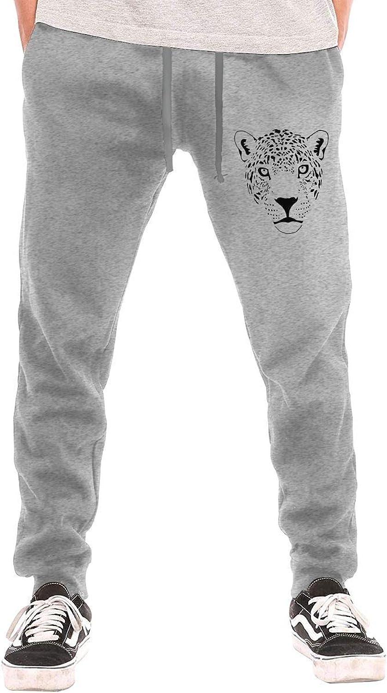 Meamyezz Men's Jaguar Cougar Cat Puma Panther Leopard Joggers Pants with Pockets