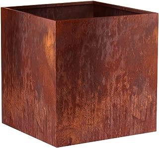 MK Designs Corten Steel Cube Planter, 22