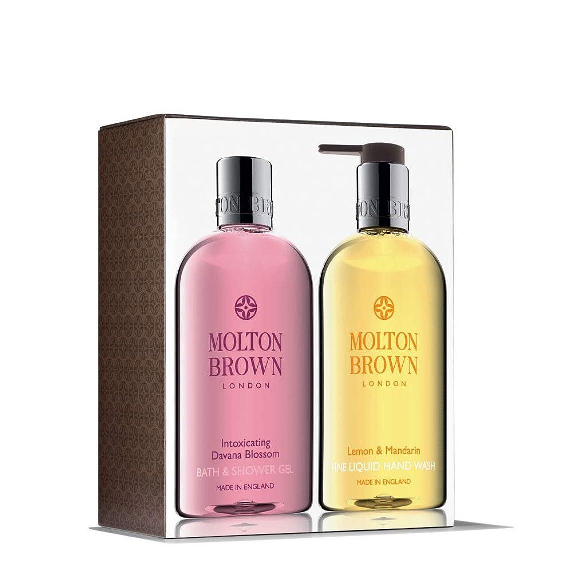 直径気取らない性差別MOLTON BROWN(モルトンブラウン) ダバナブロッサム アンド レモン&マンダリン ハンド&ボディセット