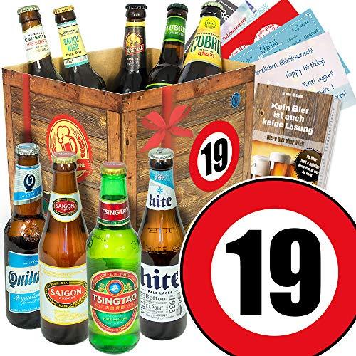 19. Geburtstag Geschenk für Freund/Bier - Geschenkset mit Bieren der Welt