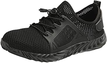 Goddessvan Womens Mens Safety Steel Toe Cap Work Hiking Breathable Trainers Boots Shoes