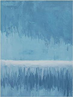 Peinture À L'Huile Peinte À La Main Sur Toile,100% Peint À La Main Abstraction Moderne Bleu Minimaliste Peint À La Main Pe...