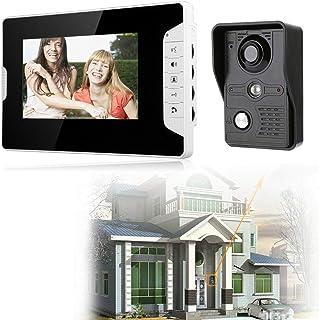 Videoportero con monitor de 7 pulgadas, interfono con cámara, conexión por cable para casa, oficina