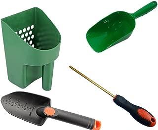 Metal Detecting and Treasure Hunting Tool Kit #1 Sand Scoop, Hand Trowel, Super Scooper, and Brass Probe