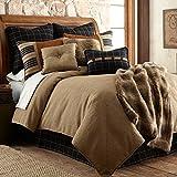 HiEnd Accents Ashbury Lodge Rustic Tweed Bedding Comforter Set, Super King,...