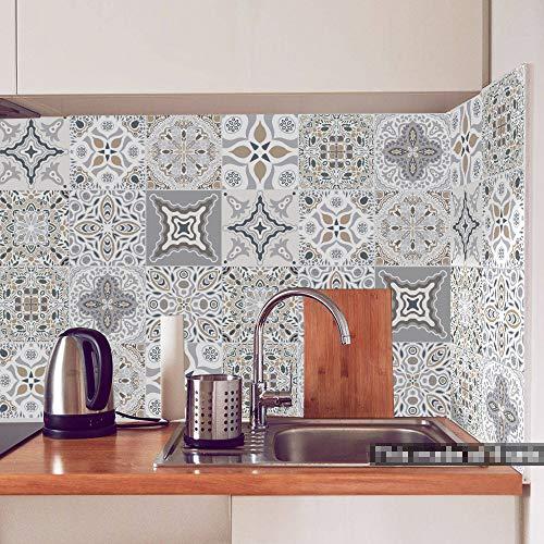 WANGXL Patrón marroquí Pegatinas para Azulejos Pelar Y Pegar Azulejos De Pared Salpicaduras Autoadhesivas CalcomaníAs De Vinilo para Azulejos Pegatinas para Azulejos De Pared DIY para Cocina Sala