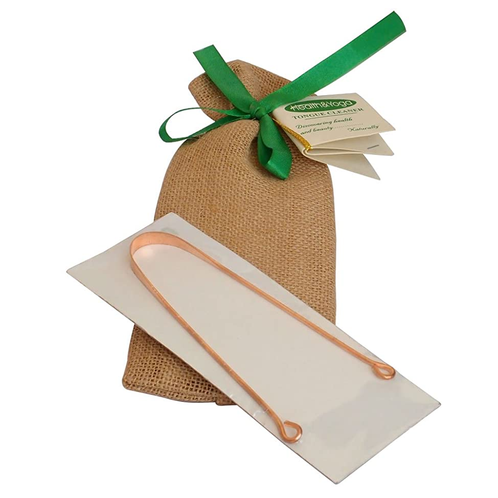 HealthAndYoga(TM) Copper Tongue Cleaner - Exquisitely Gift Wrapped