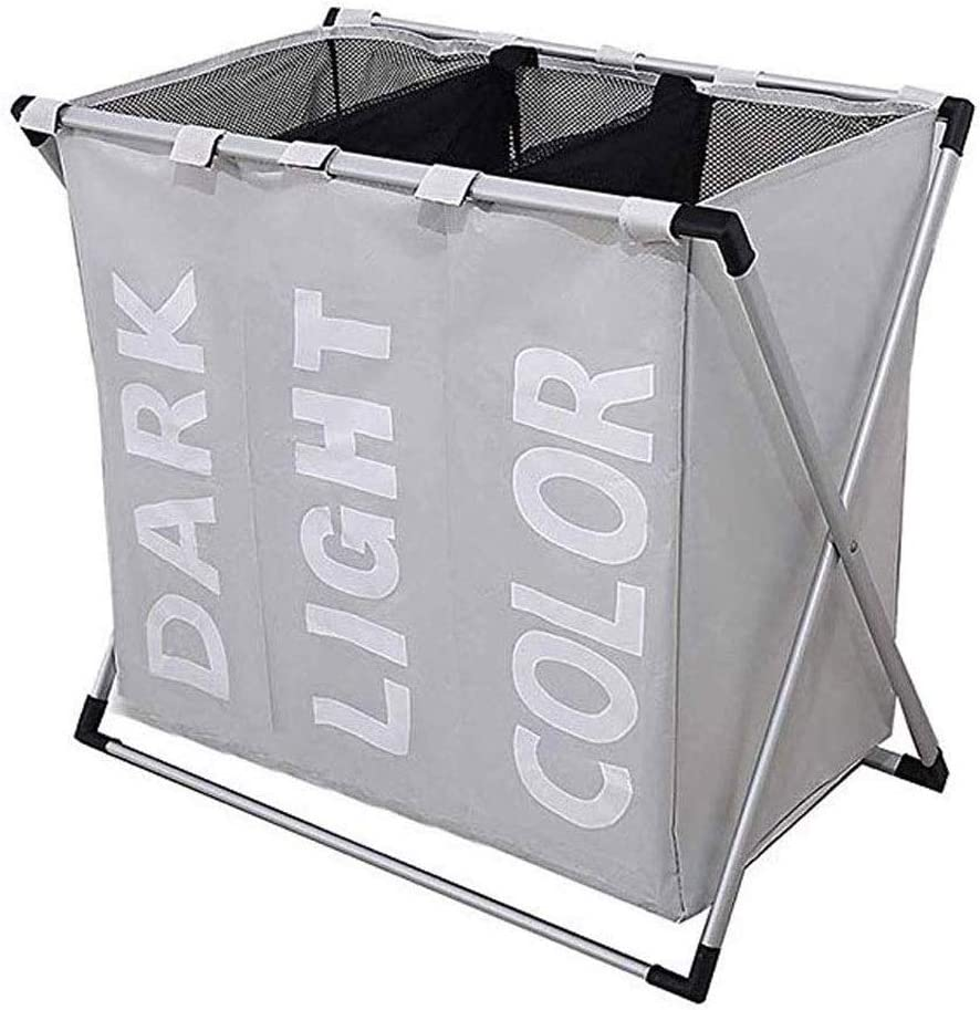 Free Shipping New YQSHYP service Collapsible Laundry Basket with Aluminum Brack Handle and