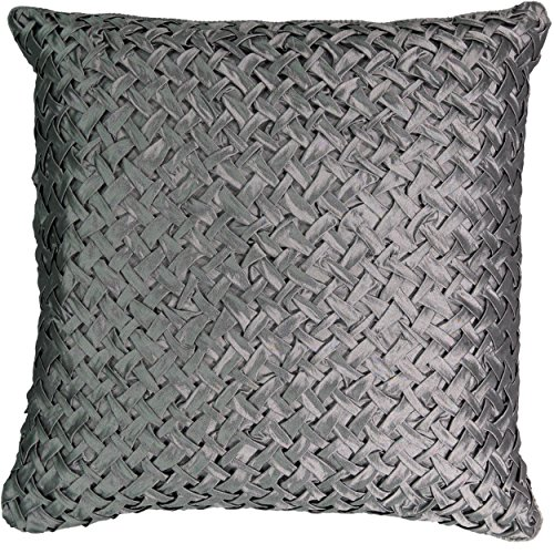 """Beautyrest Chacenay Faux Silk Decorative Pillow, 20"""" x 20"""", Pewter"""