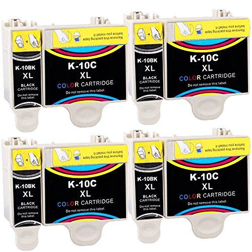 ESTON 8 Pack HY 10XL Ink Replacement for Kodak10 XL 10B 10C Fit ESP 3 5 7 9 Hero 6.1 7.1 9.1