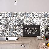 24 (Piezas) Adhesivo para Azulejos 20x20 cm - PS00023 - Firenze - Adhesivo Decorativo para Azulejos para baño y Cocina - Stickers Azulejos - Collage de Azulejos