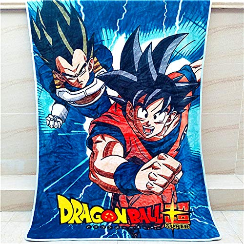 DJxqJ coperta Anime Dragon Ball Z Son Goku Coperta Mat Copriletto Morbido pile Gettare Car Camera da letto Car Divano Coperta Viaggio invernale caldo