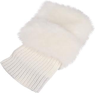 jieGorge, Calcetines, puños de Bota para Mujer Calentadores de piernas de Punto de Felpa de Invierno Calcetines de Adorno para Botas 2 Pares, Ropa para Mujer Informal