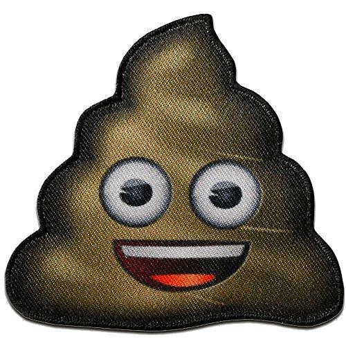 mierda montón de mierda emoji - Parches termoadhesivos bordados aplique para ropa, tamaño: 5,1 x 5,3 cm