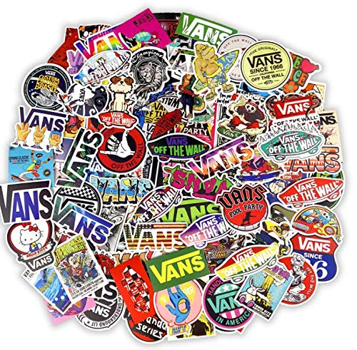 Vans Fansi Stickers Tide Brand Logo Personality Skateboard Street Stickers Suitcase Stickers Computer Notebook Stickers Waterproof 100 Sheets