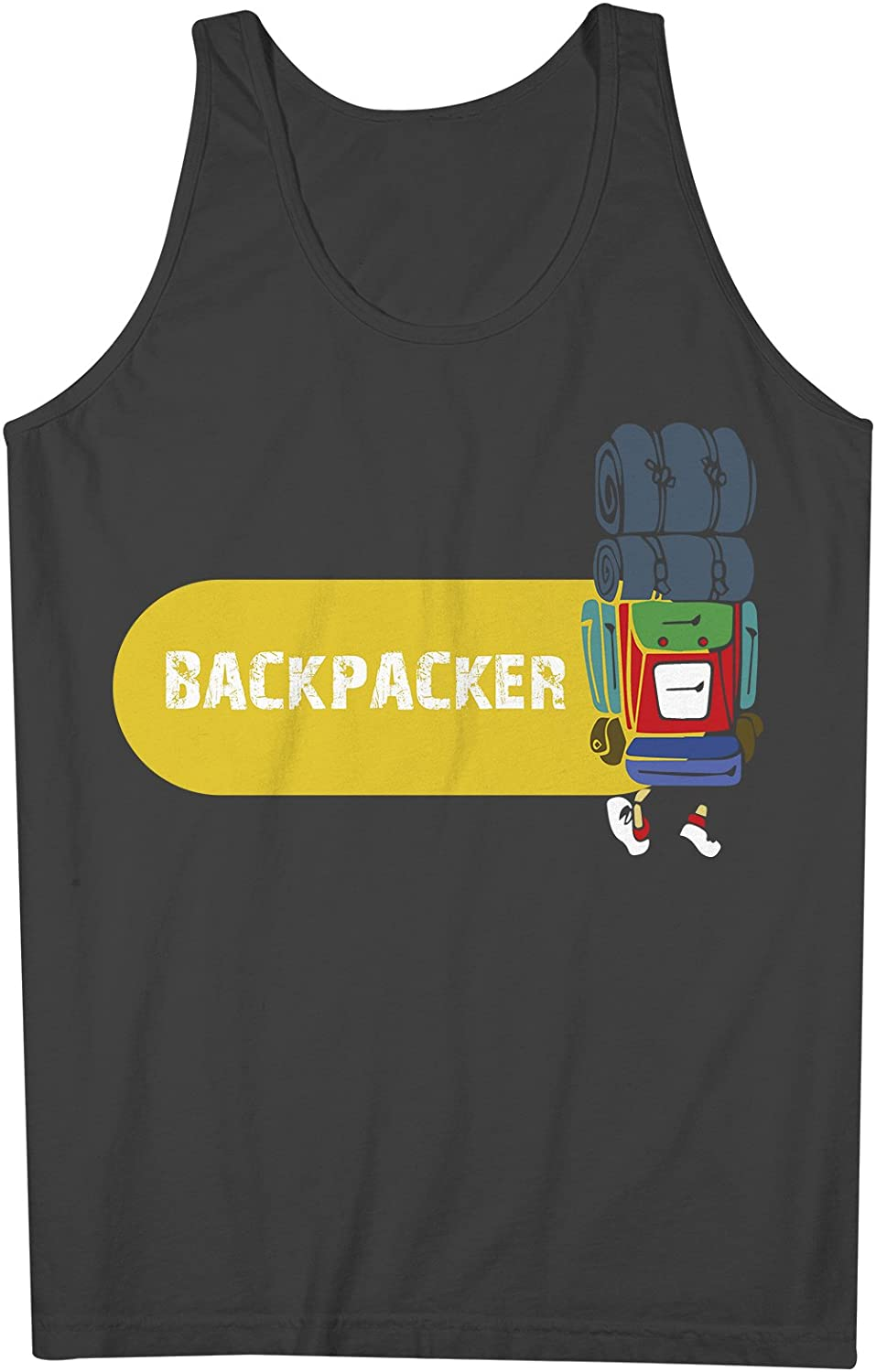 Backpacker Traveling Travel 男性用 Tank Top Sleeveless Shirt
