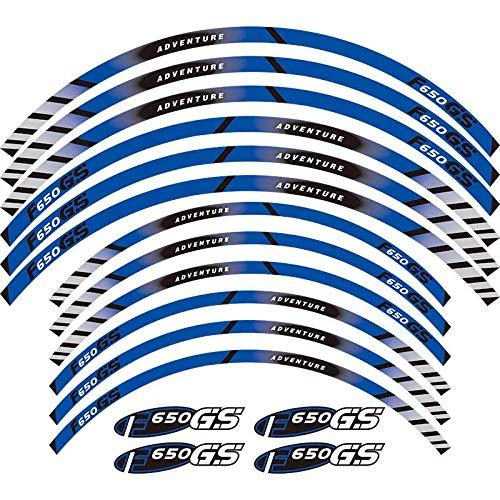 Calcomanías de la rueda de la motocicleta Pegatinas reflectantes Riadas de llanta para BMW F650GS Adventure 19''17 '' F650 GS F650 (Color : 3)