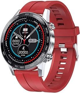 ساعة ذكية عالية الجودة للرجال 2020 جديد ساعة ذكية IP68 بلوتوث ساعة الهاتف ضغط الدم متتبع اللياقة البدنية (اللون: C)
