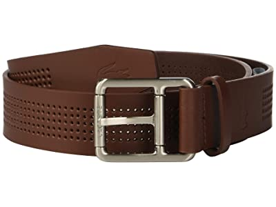 Lacoste Perforated Leather Belt w/ Roller Buckle (Narcissus/Navy Blue/Turkish Delight/Lapwing) Men