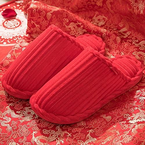 ZXQYLFLY Zapatillas de casa,China Red Ben Año Transferencia Nueva Red Nuevas DE...
