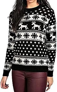 Christmas Sweatshirt, Women Xmas Snowflake Elk Floral Printed Sweatshirt Plus Size Blouse Tops