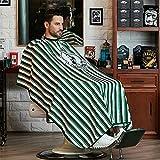 GAOYI Traje de peluquería profesional a prueba de agua, fácil de limpiar, liviano, resistente al agua, adecuado para peluquerías y salones de belleza(Verde)