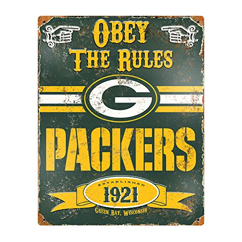 Party Animal Placa NFL em relevo de metal vintage Green Bay Packers