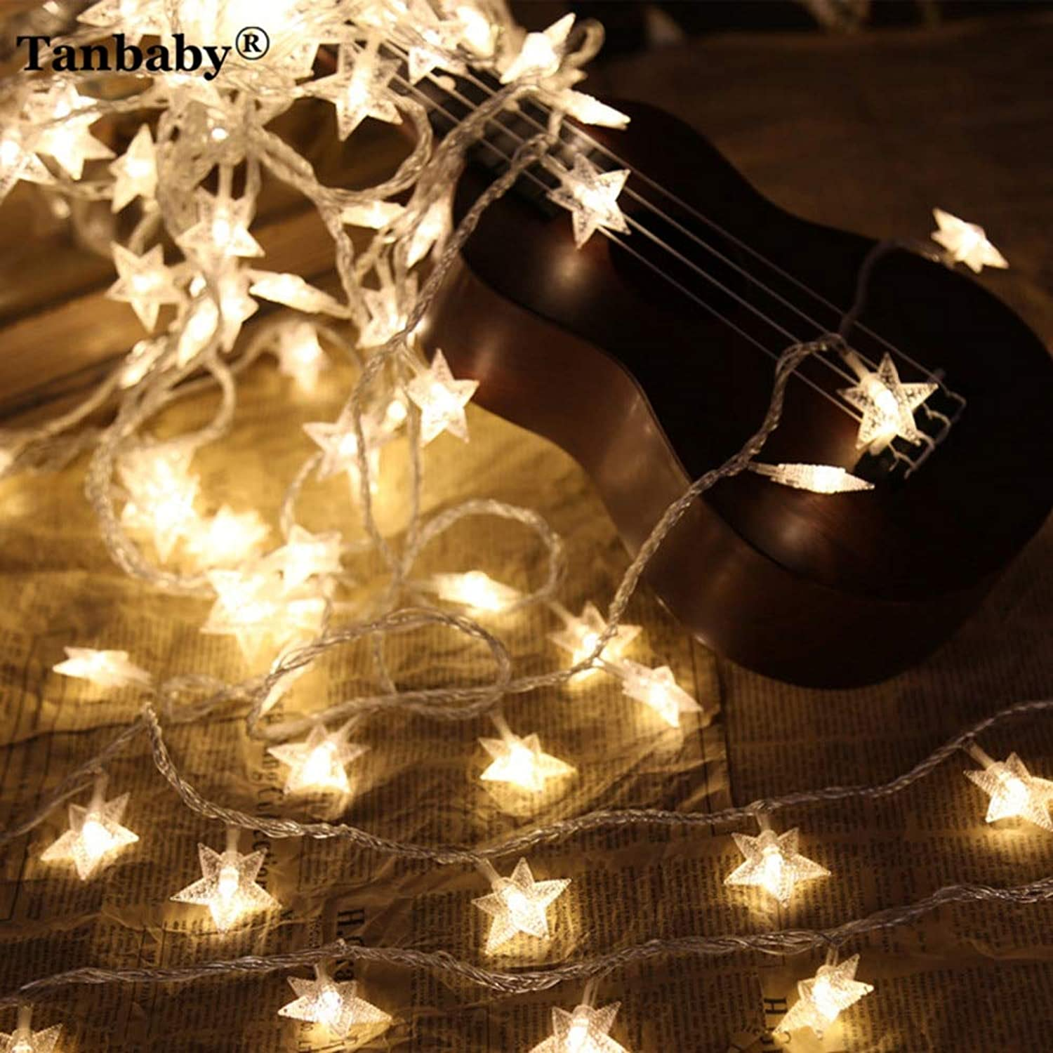 Changeble   Tanbaby 10m 100LED Star String Light Outdoor Garland Light Xmas Wedding Party Twinkle Lights Christmas Tree Luces Decora